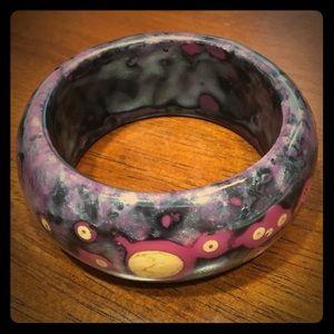 Jewelry - Purple and gold chunky bangle bracelet